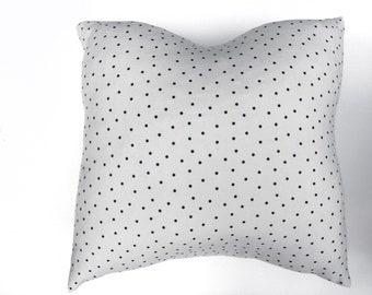 16x16 Polk a dot pillow cover, overlap ls in back