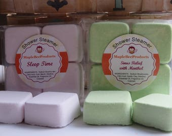 Shower Steamers, Sinus Relief, Aromatherapy Shower Bomb, Hangover Relief , Headache Relief, Menthol Steamers, Migraine Relief, Sleep Steamer