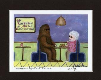 Momma & Bigfoot, fine art print