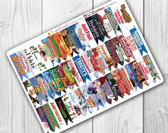 2016's - 25 Days of Christmas Movie Page Flag Stickers