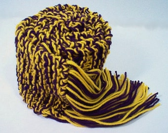 Scarf Sports College Royal Purple and Gold