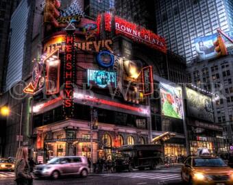 Hershey's, Times Square, New York City, 8x10 HDR Fine Art Photo Print