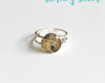 Sand Ring - Custom Sand Jewelry - Sterling Silver Ring - Adjustable Ring - Beach Sand Jewelry - Sand Jewelry - Beach Sand Ring