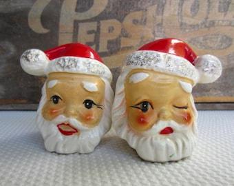 Vintage Santa Salt and Pepper Shakers made in Japan