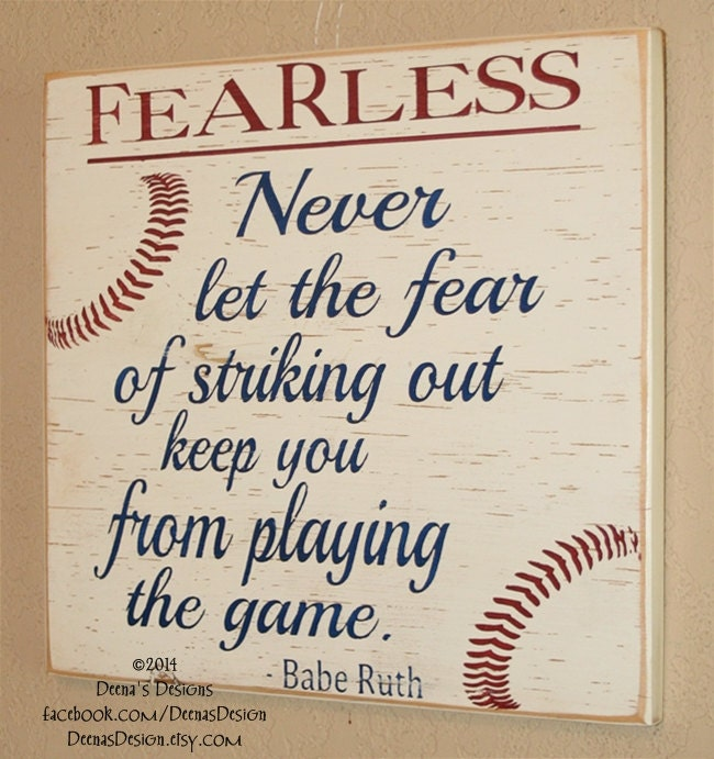 Baseball Decor Sign Quote Babe Ruth