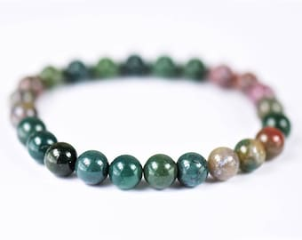 Indian Agate 100% Natural Stone Stretch Bracelet
