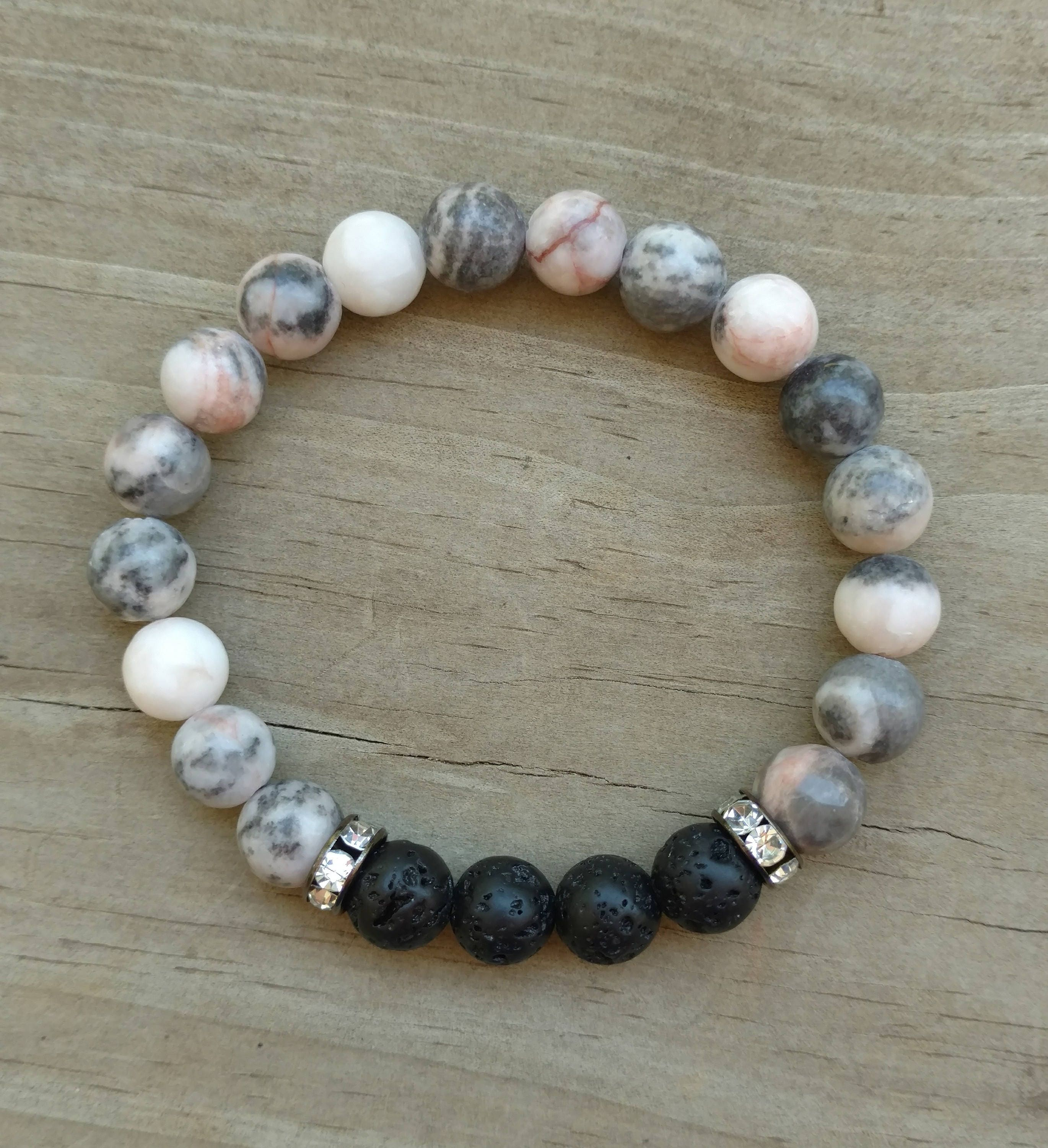 stone natural west bracelet collections layered s bracelets double crucible bead mens men products wide