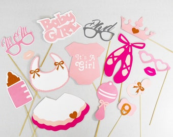 Ballet baby shower photobooth props 15 pc** ballet dancing lover, its a girl ballet