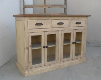 TV Stand, Entertainment Console, Reclaimed wood, Console Cabinet, Side Board, Rustic