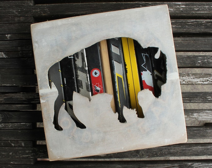 """Featured listing image: 12x12"""" Bison Reclaimed Hockey Stick Shadow Box"""