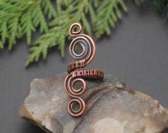 Kupfer-Ring Draht gewickelt Kupfer Stapeln Ringe jetzt auch