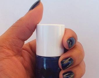 Navy Blue nail polish- Galaxy Blue