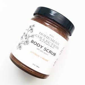 Citrus + Rose BODY SCRUB / Sugar Scrub / Body Scrub / Natural Body Scrub / ORGANIC body Scrub/ Vegan / Exfoliating / Soothing/ Smoothing