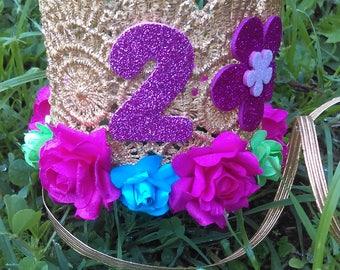 Trolls Crown, Flower crown, Birthday Crown
