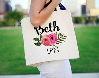 lpn Tote Bag, Tote Bag for lpn, Nurse Tote Bag, Personalized lpn Tote bag, Tote Bag for Nurse, Personalized RN Tote Bag, Tote bag for RN