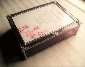 Wedding Keepsake Box|Wedding Gift|Wedding Invitation Box|To be Made|Stained Glass Wedding Keepsake Box|Handcrafted|Made in USA