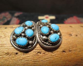 Native American Turquoise Post Earrings