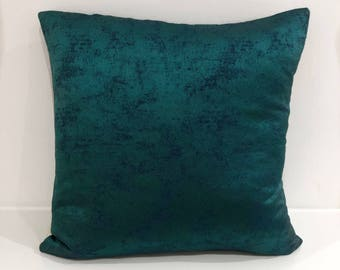 Casamance fabric - turquoise shimmer front and reverse - 18x18in
