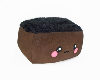 Brownie plushie / kawaii fluffy sweet pillow