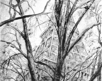 Winter in Paris Original Illustration