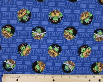 Teenage Mutant Ninja Turtles Fabric TMNT Fabric Tough Guys Fabric From Springs Creative