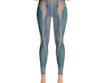 Twilight +  Yoga Leggings + by Phantom Rae Designs / Women's made in USA high quality workout pants / modern design