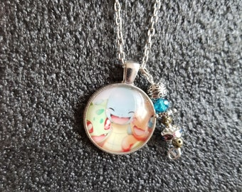 Handmade Bulbasaur Squirtle Charm Necklace and Charm