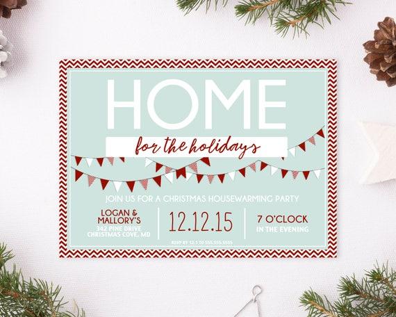 weihnachten housewarming party einladung einweihungsparty. Black Bedroom Furniture Sets. Home Design Ideas