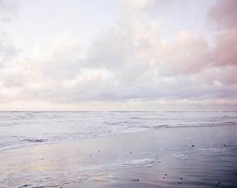 """Pastel Beach Art, Coastal  Art, Sunset Photograph, Ocean Landscape, Waves, Seascape, Dreamy Beach Art Beach Art Cloud Wall Art """"Dream Beach"""""""