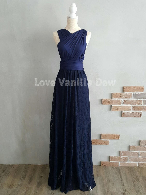 Bridesmaid dress infinity dresses navy lace floor length maxi zoom ombrellifo Images