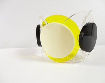 XEROX | transparent lucite big bracelet | hoop perspex bracelet | transparent circle bracelet | handmade plexiglass bracelet | Plexi Shock