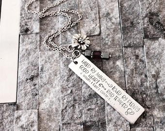 Sarcasm Hand-Stamped Lightweight Aluminum Necklace