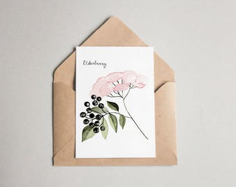 Elderberry folded card