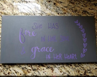 Hand painted and Hand lettered Canvas Art