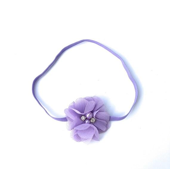 Lilac Headband, Purple Headband, Flower Headband for Girls, Flower Headband, Baby Headband Baby, Infant Headbands, Newborn Headband