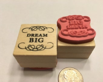 small Dream Big rubber stamp, 21 mm (B4/2)