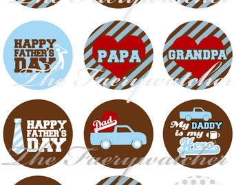 "1"" Inch Father's Day Magnets, Pins or Flatbacks 12 Ct. Grandpa, Stepdad"