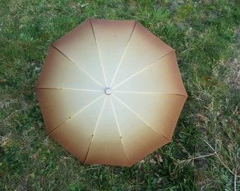 Vintage Golden Brown Knirps Umbrella Vintage Umbrella Retro Rain Or Sun Umbrella