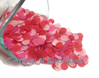Confettis de Saint Valentin, décoration de mariage, confettis rouge rose, décor de fête la Saint-Valentin, saupoudrer de table, funfetti, confettis de mariage, tirage au sort