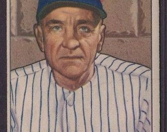 Vintage 1950 Bowman #217 Casey Stengel New York Yankees HOF Near EX