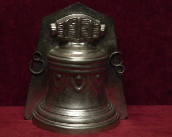 antique chocolate mold Easter Bell