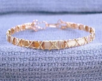 Tri-color X bracelet