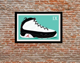 Illustration print - Jordan 9 of my Jordan sneakers series