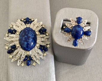 Sarah Coventry Anniversary Ring and Brooch
