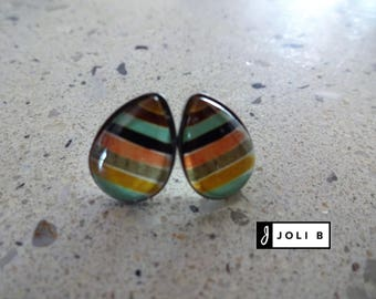 Earrings stainless steel 10 X 14 mm