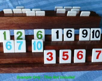 Bubinga Rummicube Tile Holder Pair, Item # 511-2
