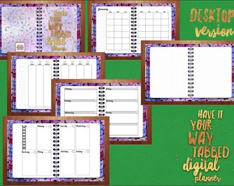 Desktop Digital Planner for GoodNotes, Have It Your Way, CLOSEOUT
