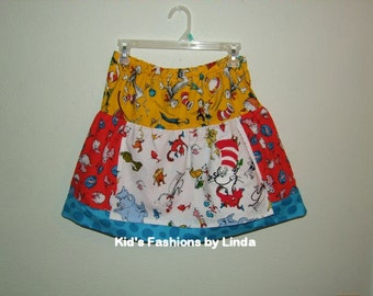 Apron Skirt with Suess Fabric