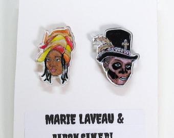 Marie Laveau and Baron Samedi Acrylic Earrings