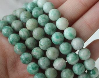8mm Ching Hai Jade Gemstone Beads Round - Full Strand Genuine Gemstone Natural Gemstone